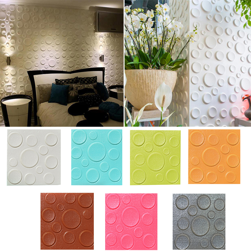 PE Foam 3D Background Wall Stickers Safty Home Decor Wallpaper DIY Wall Living Room Bedroom Decorative Stereoscopic Sticker