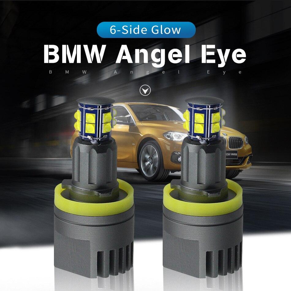 New Arrival 2pcs 120W 240W E92 LED Angel Eyes LED Marker for CREE LED Xenon White 6000K for BMW H8 E92 X5 E71 X6 E82 M3 E60 E70 aerofit x6 r led