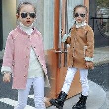 Vestes Automne Manteau pour Fille Nouvelle Mode Filles Veste Single-Breasted De Laine Enfants Veste Filles Manteaux