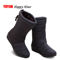 eae6ddde6 Winter Shoes Women Snow Boots Waterproof Warm Plush For Cold Winter Wedges  Ankle Botas Women Winter