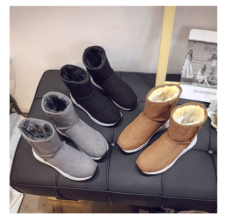 Winter Snow Boots Women Casual Shoes Slip On Warm Plush Women Ankle Boots Flat Heel Sport Ladies Shoes Booties Botas Mujer XZ82 (15)