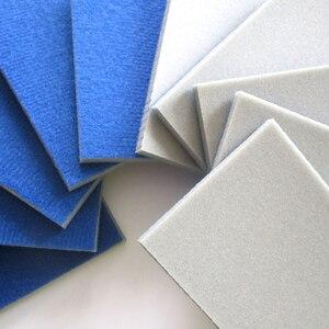 Image 3 - 10PCS Wet & Dry Flocking Sanding Sponge Self adhesive Disc Sandpaper Rectangular 58*100MM 300 3000 Grit Polishing Grinding Tools