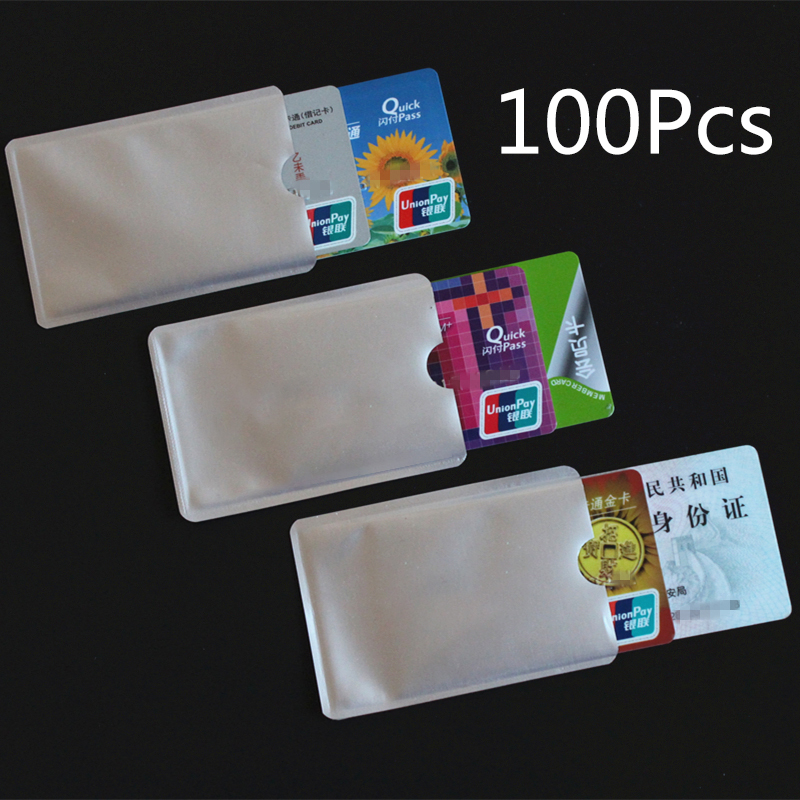 Wholesale Card Cover Wallet Blocking Reader Lock Bank Card Holder ID Bank Card Case Protection Metal Credit Card Aluminium