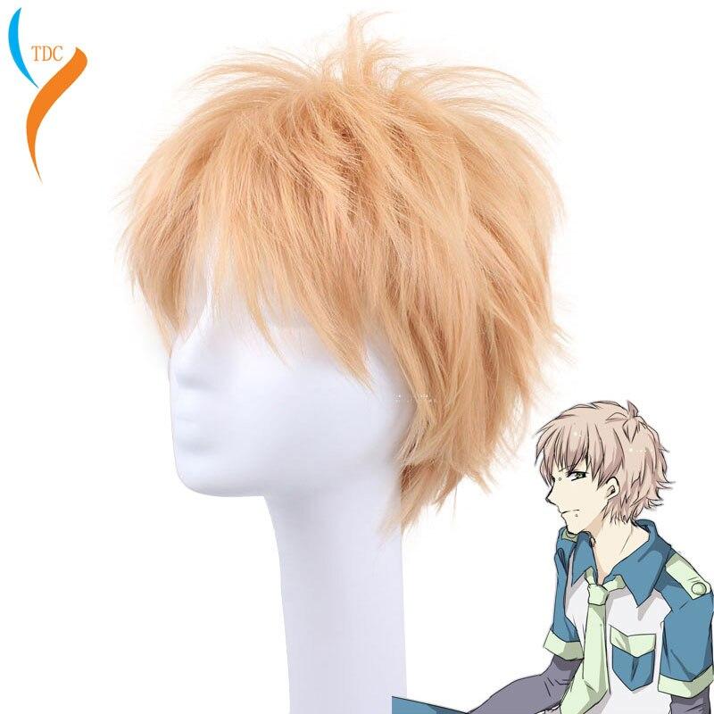 COS Noise High Quality Beautiful Fashion Style Yellow Wig DRAMAtical Murder DMMD-Noiz Cosplay Wig+Wig Cap