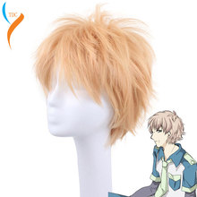 COS Noise High Quality Beautiful Fashion Style Yellow Wig DRAMAtical Murder DMMD-Noiz Cosplay Wig+Wig Cap