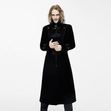 Для мужчин ветровка Европа и США гот одежда для выступления Для мужчин черный пальто длинный плащ