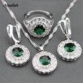 Ataullah 4 Color Beryl Crystal Joyería de la Boda Conjuntos para Las Mujeres Novias Anillo Collar Pendientes Joyería Nupcial Conjuntos de Cristal JWS003