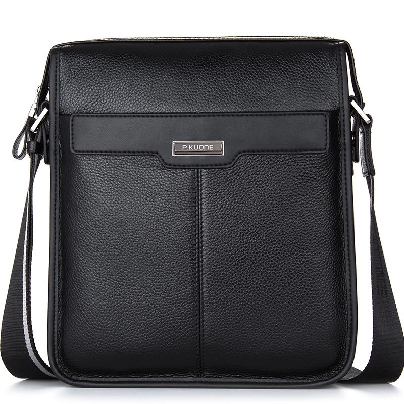 High Quality Cowhide Genuine Leather Briefcase Laptop Bag Men Bag Handbags Business Portfolios Man Shoulder Bag Black P112811 цена