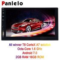 Супер!!! Золотая продукция!!!!!! Panlelo 8 ядер 2 г + 16 г 2 Din android автомобильный радио двухдорожечный Android 7,0 7 1024x600 Сенсорный экран автомобиля gps навиг