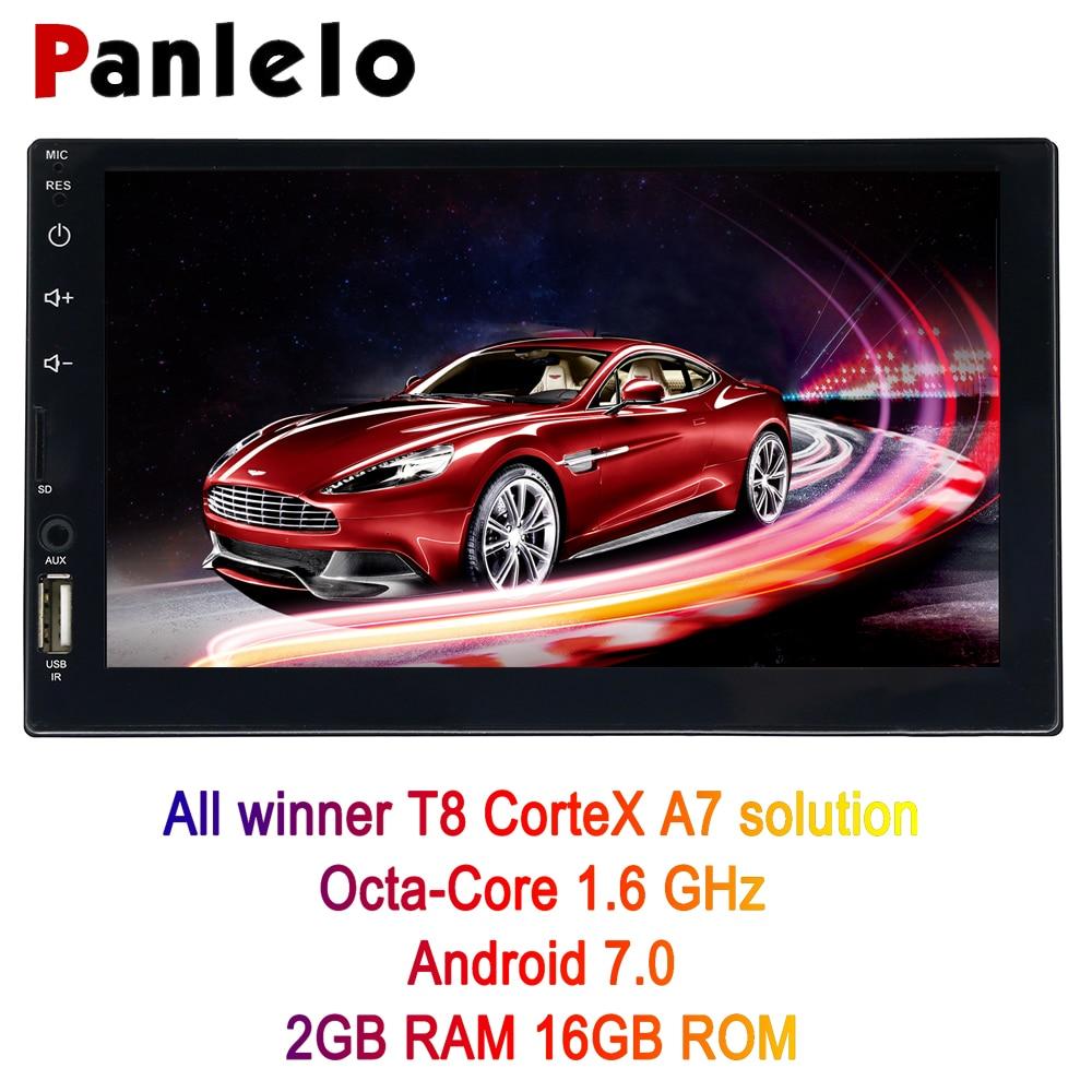 Panlelo S4 8 Noyaux 2G + 16G 2 Din autoradio Android Double Din Android 7 7 1024x600 écran tactile Voiture navigation gps lecteur audio