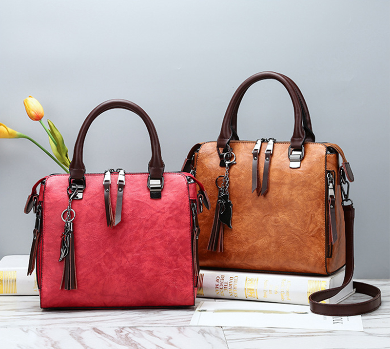 pure leather bag both