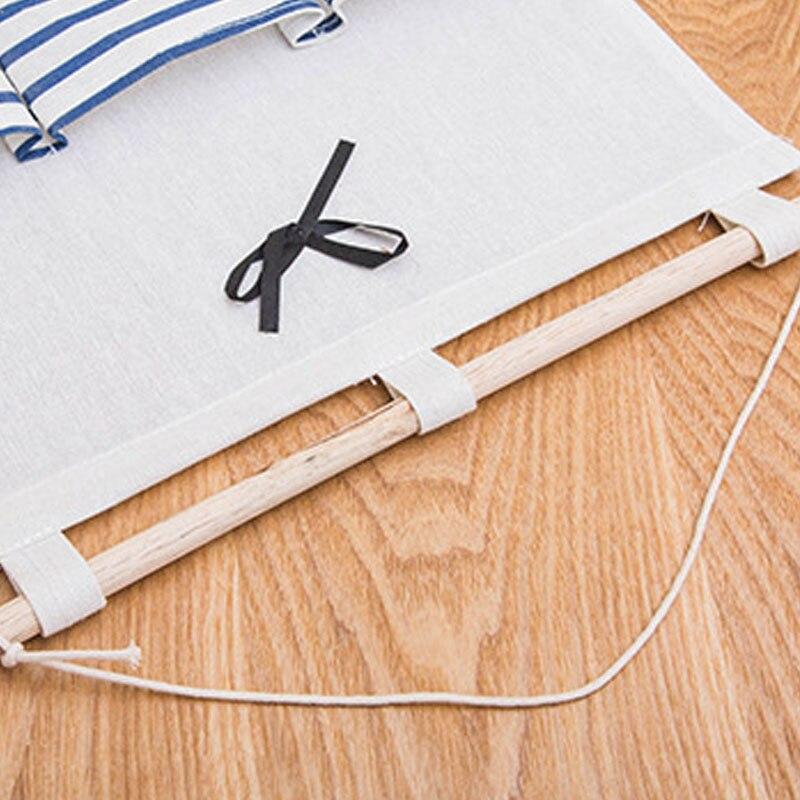 Image 5 - 2019 NEW Organizador Stripe Foldable Hanging Makeup Organizer Bathroom Home Hang Storage Bag Wall Debris Laundry Basket-in Hanging Organizers from Home & Garden
