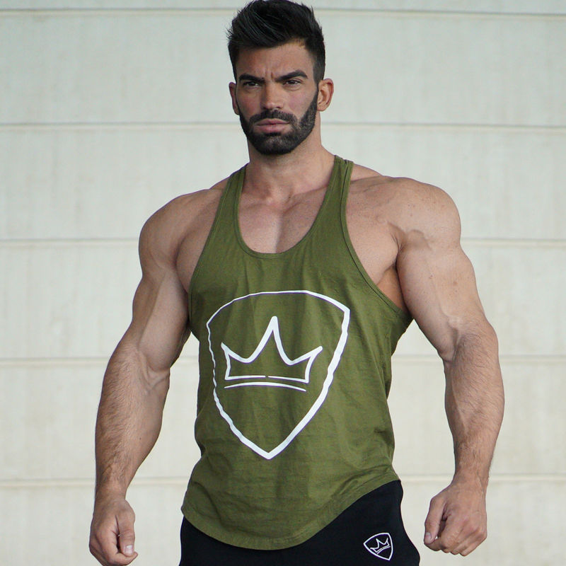 New Men Bodybuilding Muscle   Tank     top   Gyms Fitness Workout Cotton Sling Vest Casual Sleeveless shirt Undershirt Crossfit clothing
