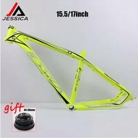 JESSICA 26*15.5/17 Mountain Bike Frame MTB Bicycle Frame set 44 56mm Headtube Cycling Aluminum Alloy Frameset BB68