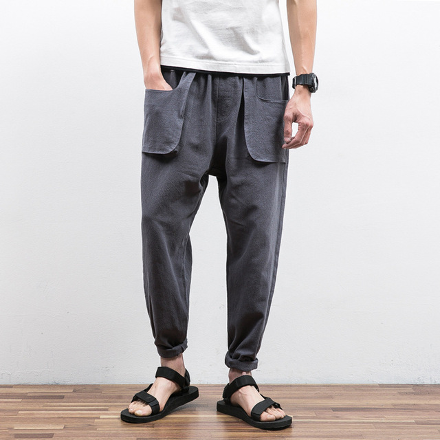 2017 Rushed Promotion Skinny Mid Full Length Casual Pants Wholesale Men's Pure  Color Elastic Belt Front