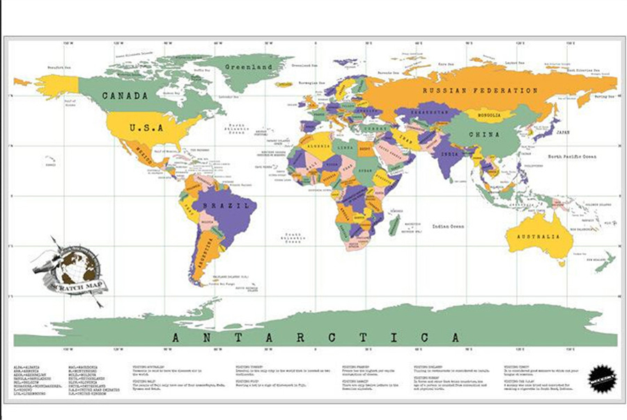 New Scratch Map Travel Edition Vacation Portable World Map For ... on world globe, world war, world military, world hunger, world most beautiful nature, world of warships, world wide web, world wallpaper, world travel, world history, world culture, world earth, world shipping lanes, world atlas, world records, world flag, world glode, world projection, world statistics, world border,