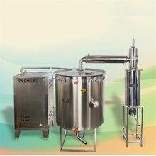 400L двойной охладитель большое вино оборудование для пивоварения с парогенератором ликера дистилляции коммерческое вино делая машину
