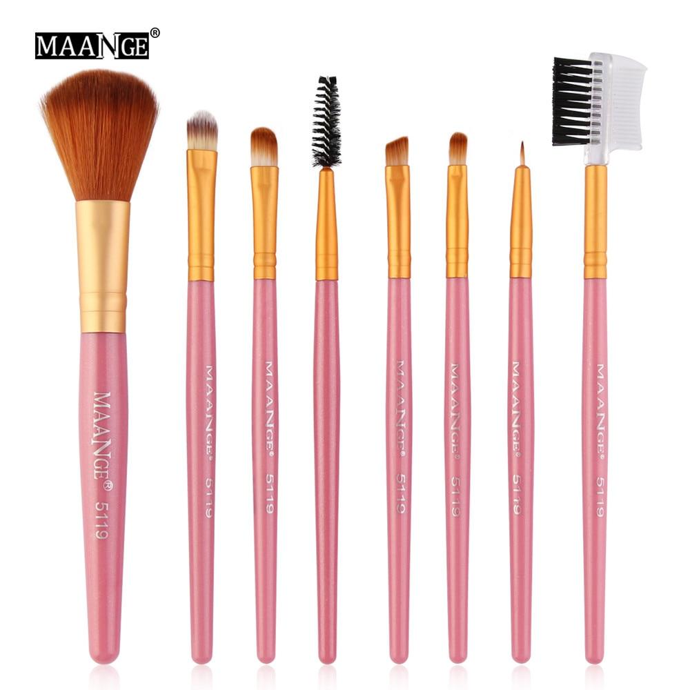 Makeup Makeup Tools & Accessories New Maange 10 Pcs Professional Eyeshadow Makeup Brushes Set Powder Foundation Eyebrow 2018 Make Up Brushes Cosmetics Tools