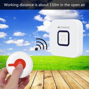 Image 5 - Retekess Wireless Aufruf System Notfall Pager Wireless Türklingel Empfänger Und Wasserdicht Taste Für Ältere Patienten Pflege