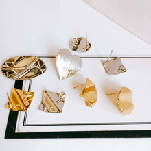 White K Gold Plated Stud Earring Accessories Metal Eardrop Components Charms Diy Material Jewelry Finding 6pcs geometric earring accessories star metal pendant eardrop components necklace charms diy making material jewelry finding 6pcs
