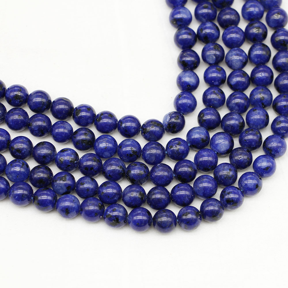 Beads & Jewelry Making Jewelry & Accessories 1strand/lot Natural Stone Lapis Lazuli Beads Loose Spacer Bead 4/6/8/10/12 Mm For Diy Bracelet Necklace Jewelry Making Findings