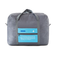 Portable 32L Large Capacity Folding Luggage Bag Carry-on Duffle Bag Foldable Nylon Travel Bag Clothing Organizer Totes Handbag