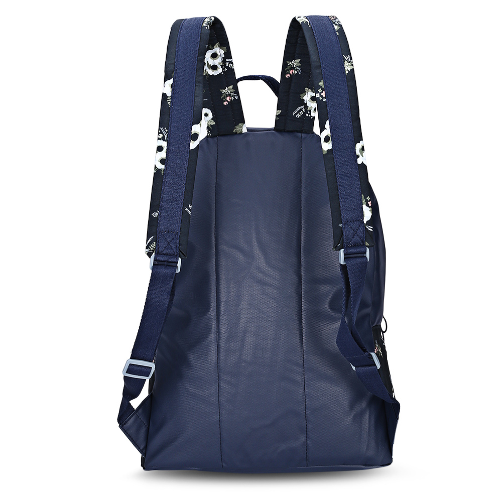 Fresh Style Korean 3D Cartoon Floral Printing Canvas Backpack Stitching Casual Female Travel Backpack School Bag Rucksack