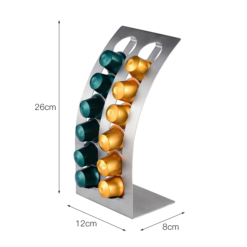 Storage Nespresso Dolce Gusto Capsules Coffee Pod Holder Stand Kitchen Table Metal Shelf Dispaly Metal Rack HR1001