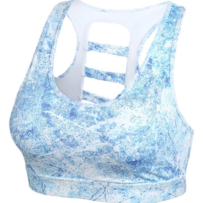 11fa706e1c828 2017 Women s Cage back Sport bras High Performance Fitness Crop Top Ladder  back Push up Bra Running Gym Marathon Sport wear-in Sports Bras from Sports  ...