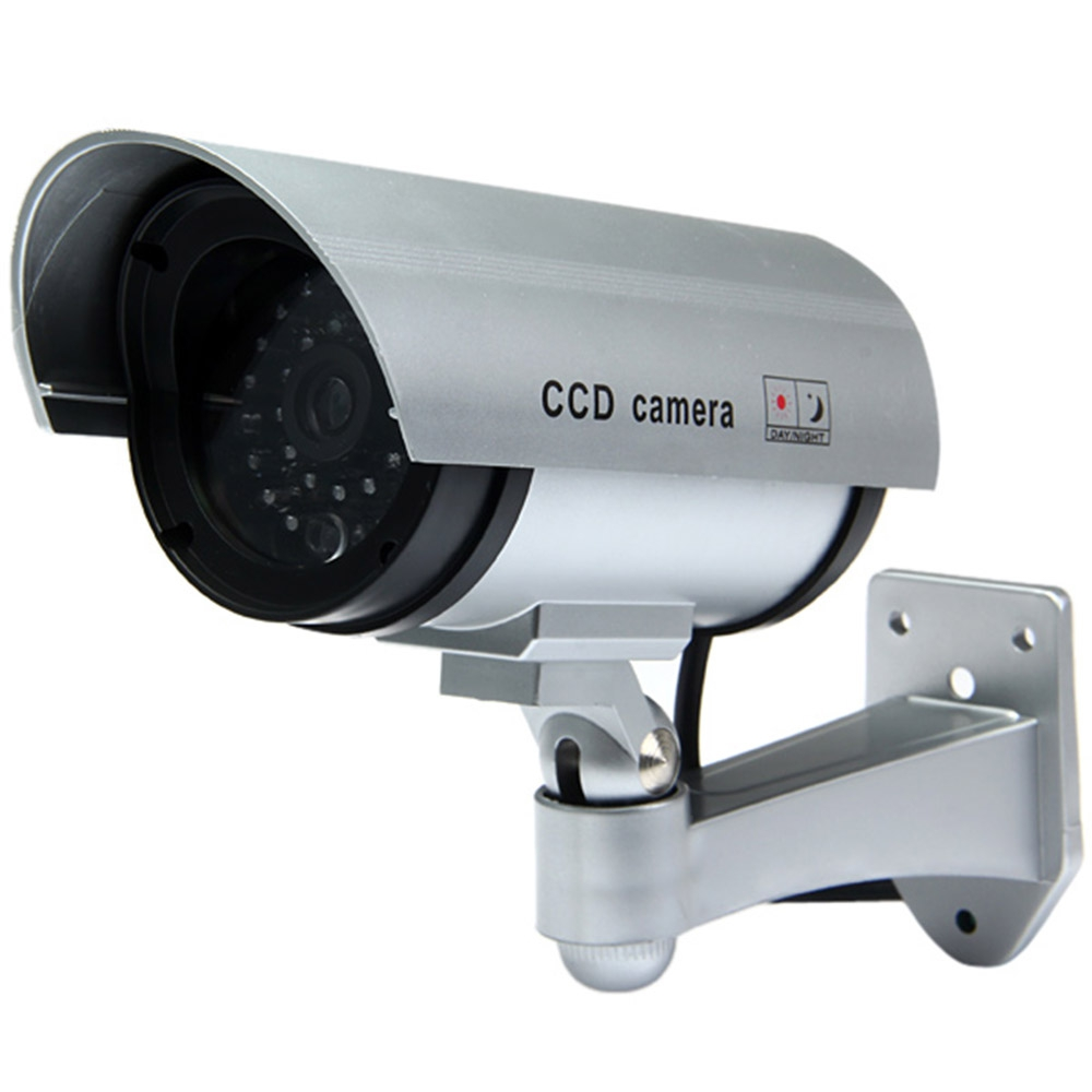 Fimei Waterproof Dummy Cctv Security Bullet Fake Camera Home Dummy Security Camera With Red Led