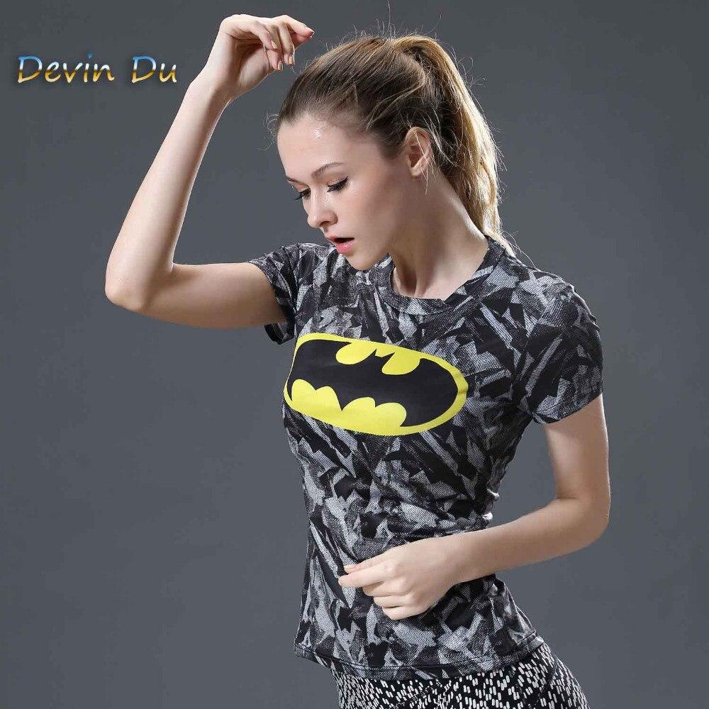 Superman VS Batman kompresijska majica 3D natisnjena majica ženske - Ženska oblačila