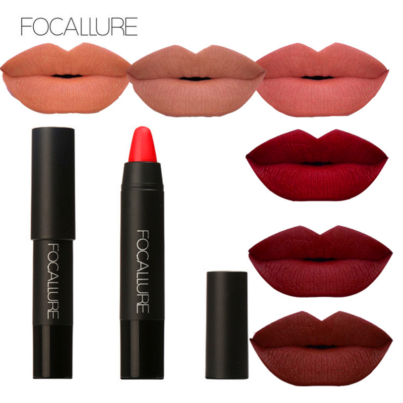 FOCALLURE 3pcs / box Lipstick Matte Lipsticker Waterproof Langdurige - Make-up