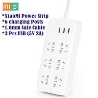 XiaoMi Mijia 6 Ports With 3 USB Fast Charging 5V 2 1A USB Smart Power