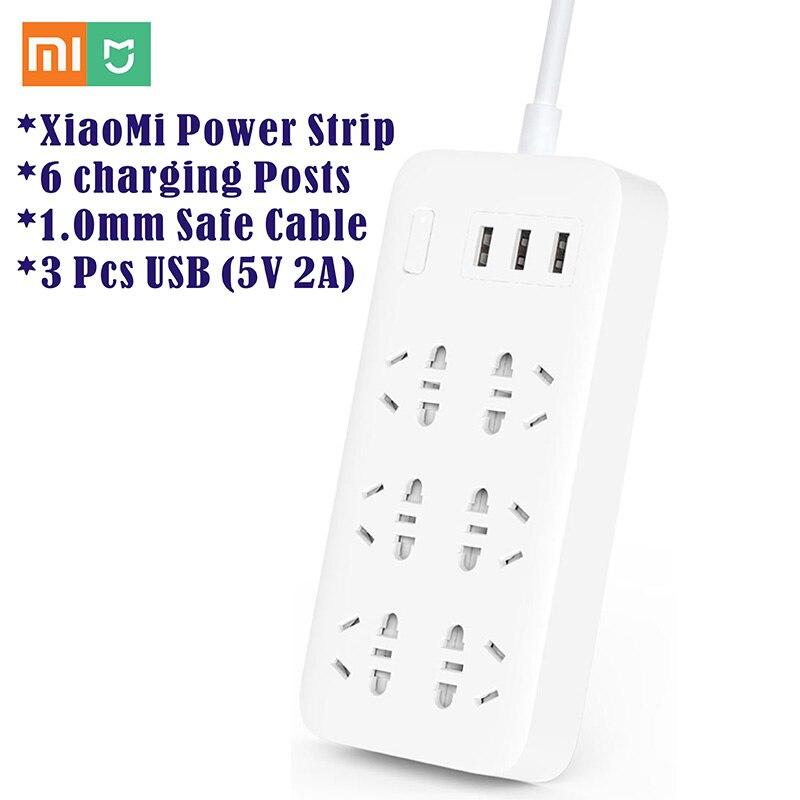 imágenes para XiaoMi Mijia 6 Puertos con 3 puertos USB de Carga Rápida 5 V 2.1A USB Regleta De Alimentación inteligente Adaptador AU de LA UE EE.UU. REINO UNIDO Plug Power Cargador Portátil