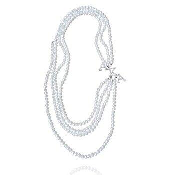 c66f196a112d Topvekso moda perla blanca alias rosa y verde grande multicapa collar  pulsera conjunto joyería gargantilla