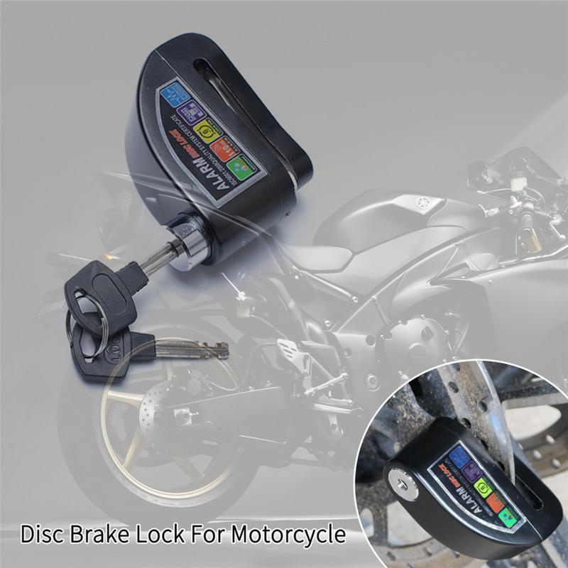 Freno de disco de la motocicleta cerradura moto Scooter bicicleta de aleación de aluminio de Anti-robo de disco de la rueda de freno de cerradura de seguridad de protección de alarma