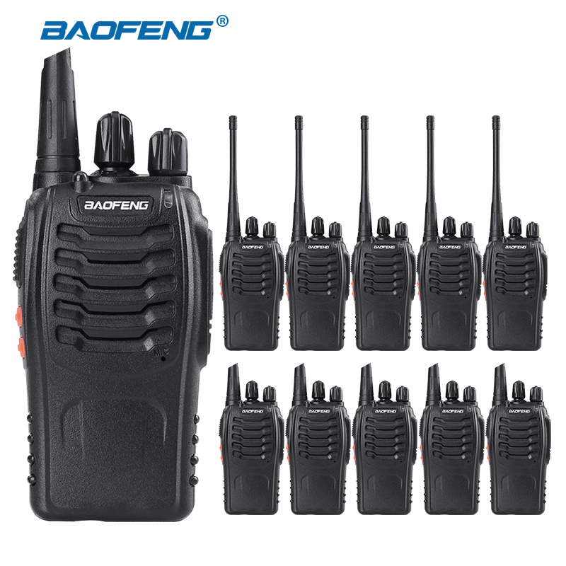 10PCS lot Baofeng BF 888S Walkie Talkie 5W Handheld Walkie Talkie bf 888s UHF 400 470MHz