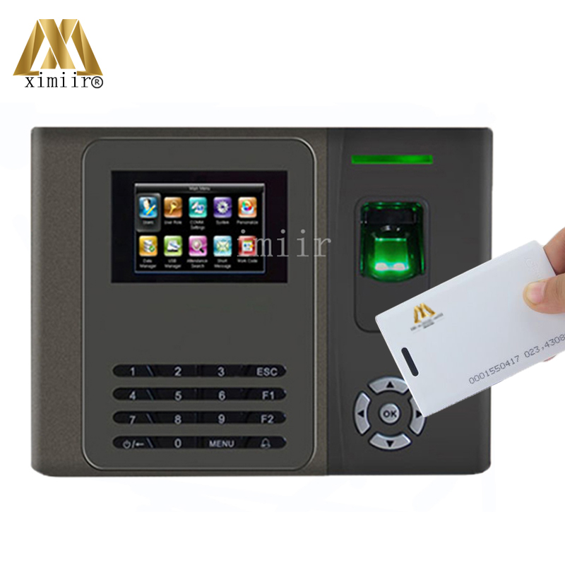 Biometric Fingerprint Attendance Machine With RFID Card Reader And Back Up Battery  Time Clock XM200 Fingerprint Time Recorder