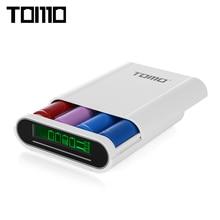 Томо S4 4×18650 Li-Ion Батарея DIY Smart Запасные Аккумуляторы для телефонов Тип-C Micro USB 8 Булавки Вход двойной Выход зарядное устройство для телефона