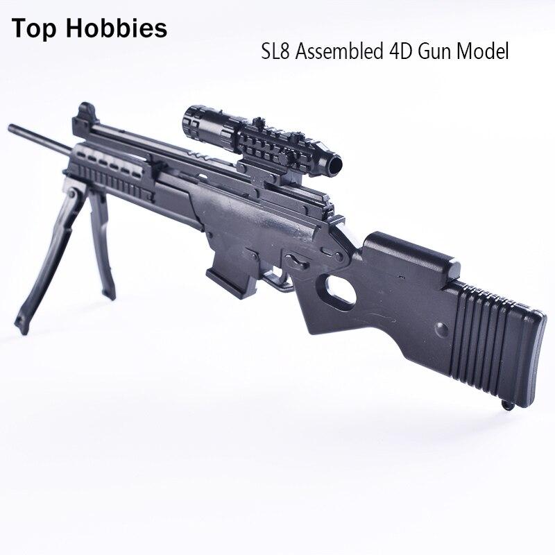 """5X1//6 Soldier Assembled Puzzle Gun Model Jedi Survival UZI Submachine F12/"""" Figur"""