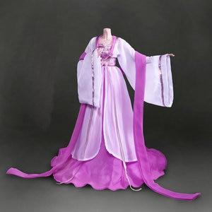 Image 4 - Handgemaakte Oude Kostuum Meisje Jurk Chinese Doll Kleding Voor 1/3 Bjd Poppen Accessoires Voor Doll Speelgoed Voor Meisjes