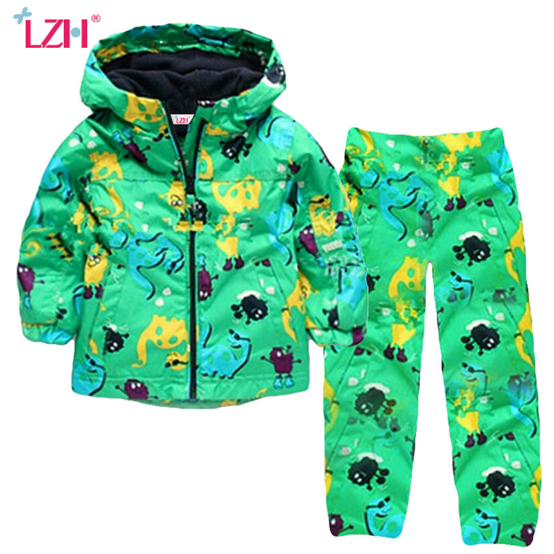 LZH Boys Clothes 2017 Autumn Winter Girls Clothes Dinosaur Jacket+Pants Christmas Outfits Kids Sport Suit Children Clothing Sets