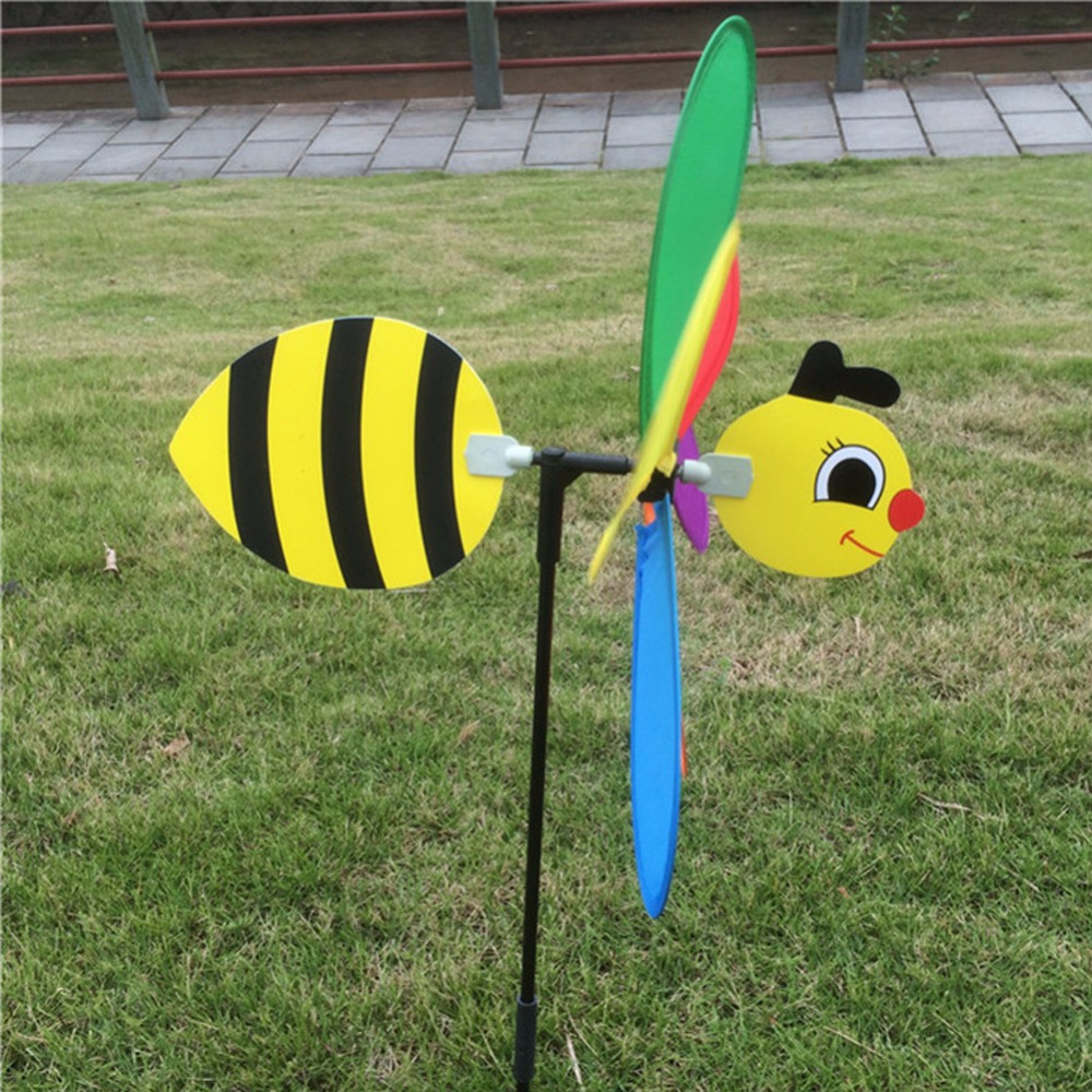 Cute 3D Insect Large Animal Bee Windmill Wind Spinner Whirligig Yard Garden Outdoor Lawn Decor C42
