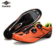 SANTIC Carbon Fiber Bottom Road Bike Shoes 2017 Ultralight Road Bicycle Shoes Self-Locking Cycling Shoe Sneakers Sapatilha Men