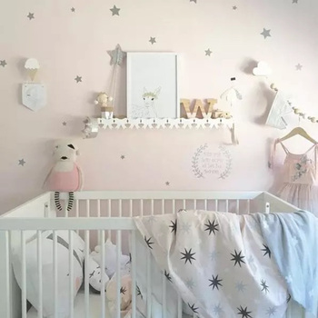 Baby Nursery Little Stars Wall Stickers For Kids Room Wall Decal Children Room Wall Sticker Kids Room Wall Art Home Decoration