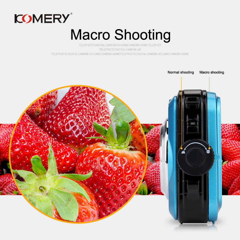 Image 4 - KOMERY WP01 Dual screen Digital Waterproof Camera 1080P 2400W Pixel 16X Digital Zoom HD Self timer Free Shipping 3 Year Warranty-in Consumer Camcorders from Consumer Electronics