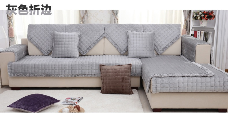 New Hot Sale 6 Colors Seat Sofa Covers Flannel Eco