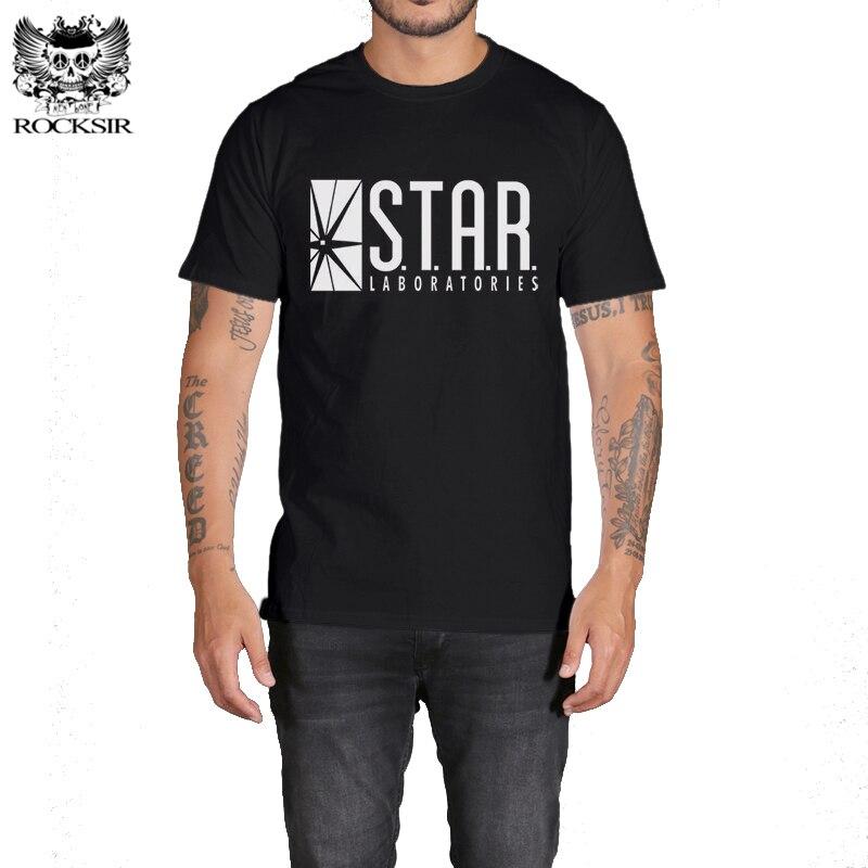 ROCKSIR S.T.A.R. LABORATORIES Design T Shirt Men Cotton T-shirt Brand Clothing Tees Men Casual mens T Shirts Men #SFY20