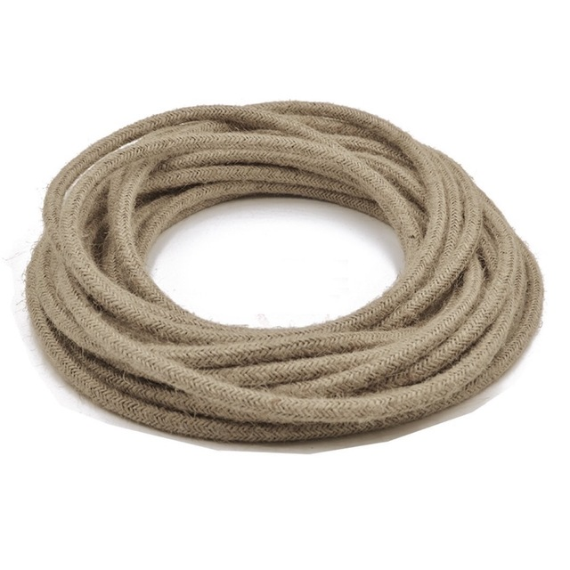 10M/lot 2 x 0.75mm Round Electric Rope Light Cord Antique Industrial ...