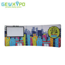 20ft*7.5ft Expo Booth Curved Tension Fabric Graphic Display Stand With Dye Sublimation Printing,Portable Advertising Banner Wall